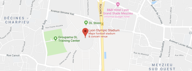 Groupama Stadium on the map