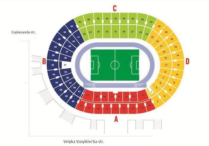 карта секторов стадиона НСК Олимпийский