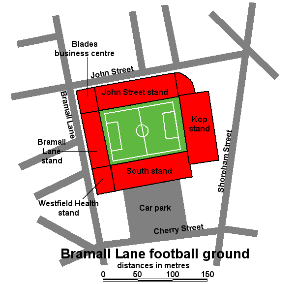 Bramall Lane seating plan