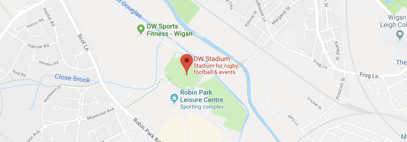 DW Stadium on the map