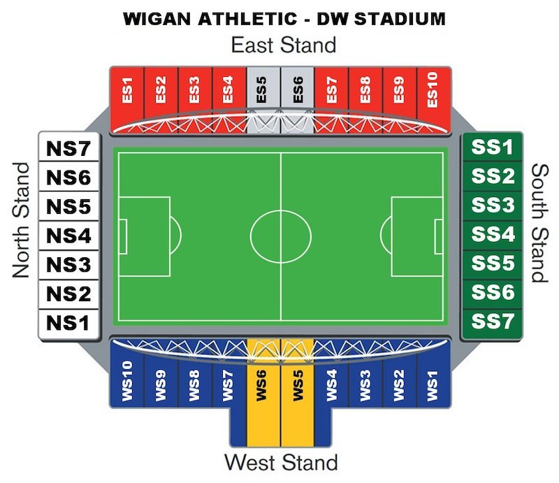 DW Stadium seating plan