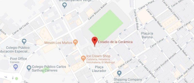 Estadio de la Ceramica on the map