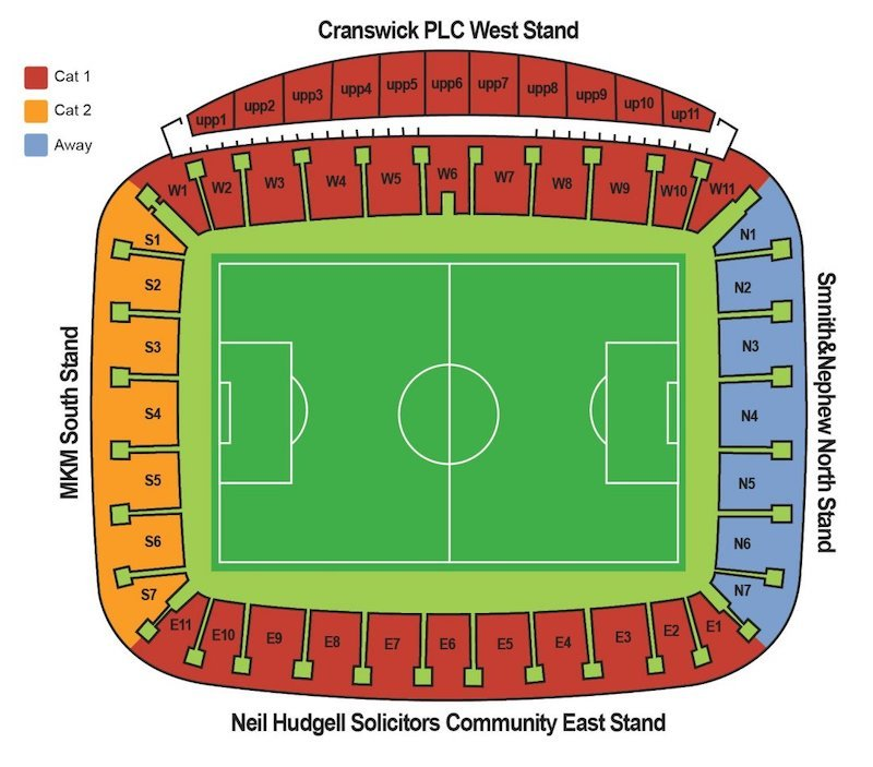 KCOM Stadium seating plan