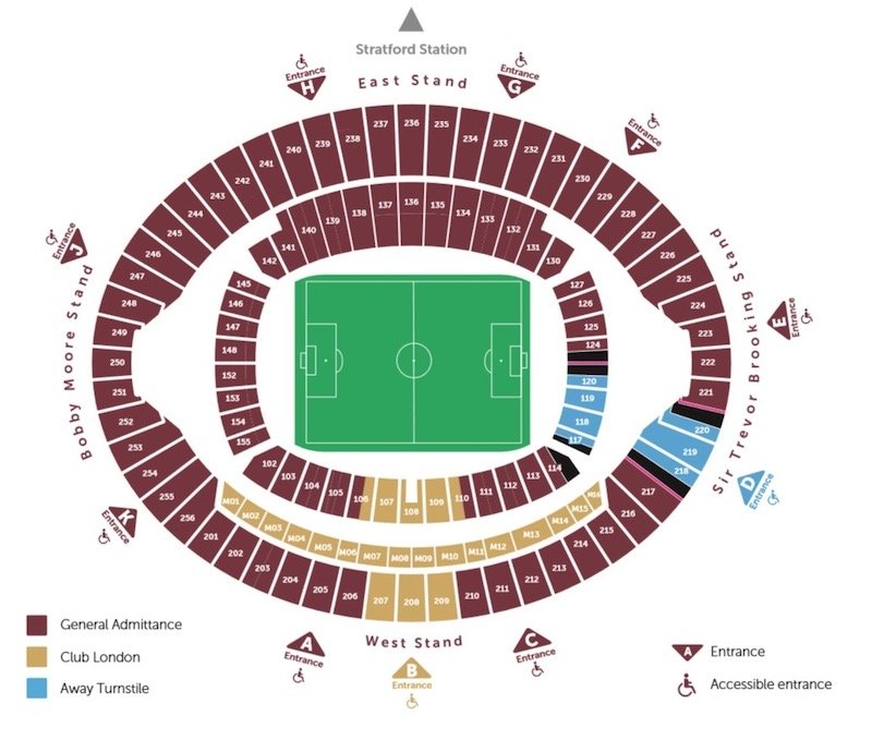 London Stadium seating plan
