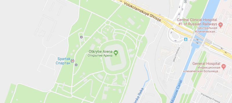 Otkritie Arena on the map