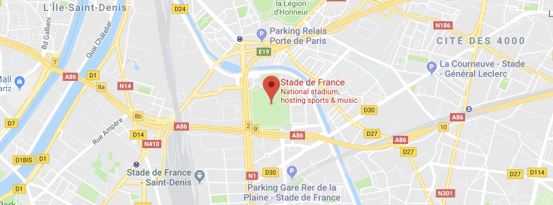 Stade de France on the map
