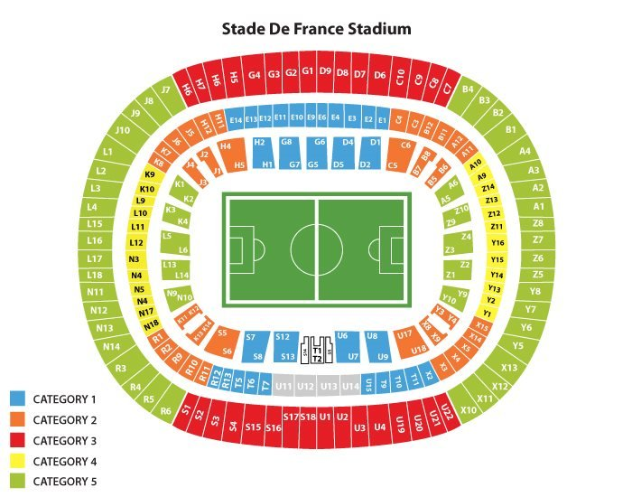 Stade de France seating plan