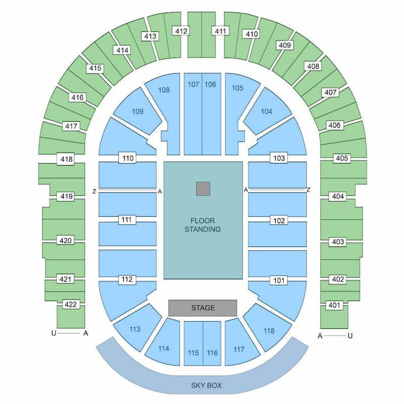 The O2 Arena seating plan