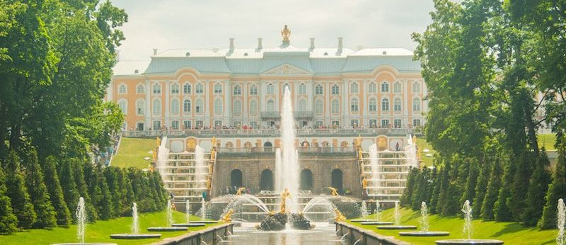 The palace and park at Peterhof