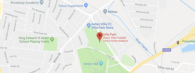 Villa Park on the map