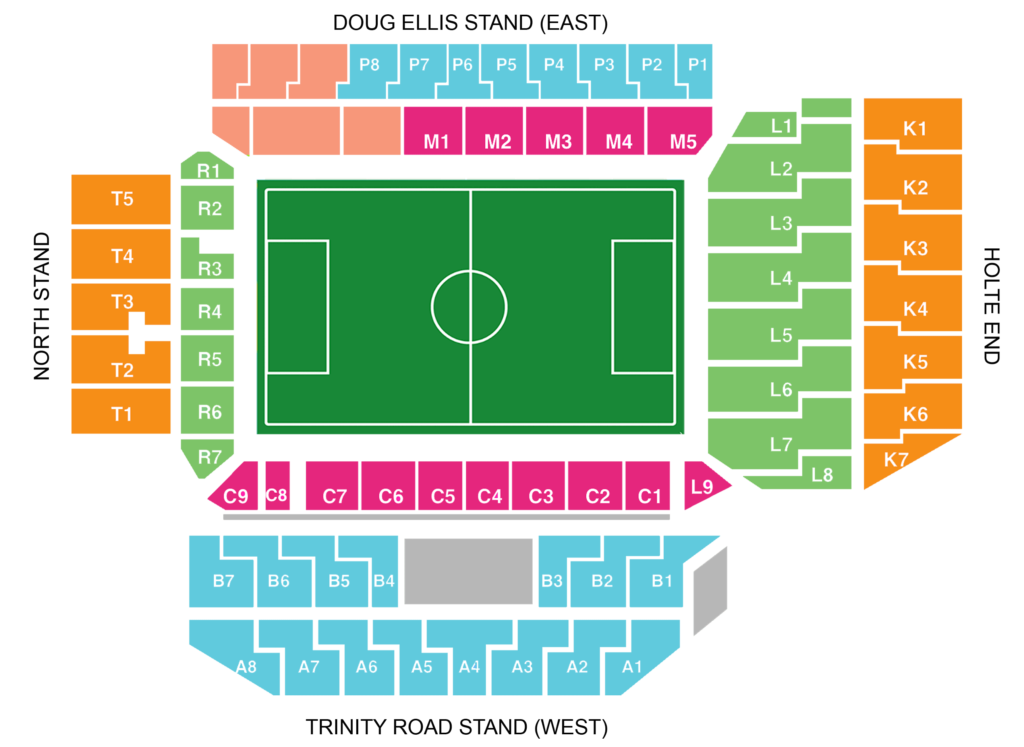 Villa Park seating plan