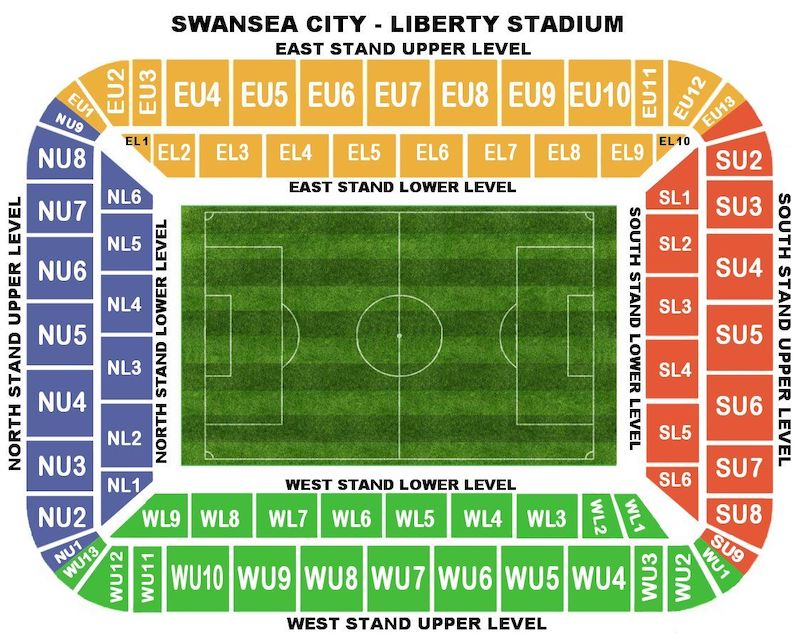 Liberty Stadium seating plan