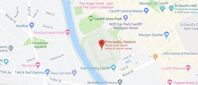 Principality Stadium on the map