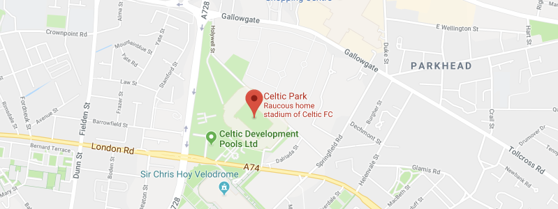 Celtic Park on the map
