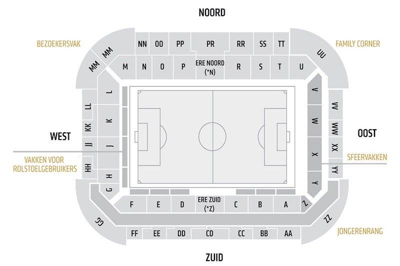 Philips Stadion seating plan