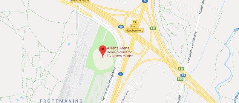 Альянц Арена на карте