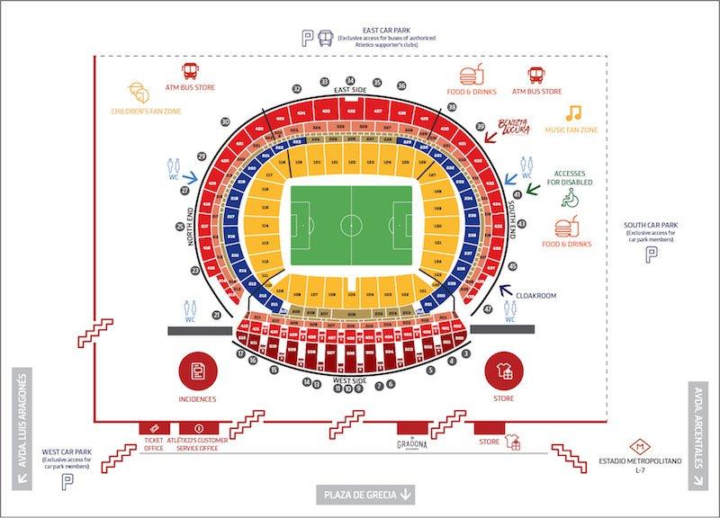 Wanda Metropolitano seating plan