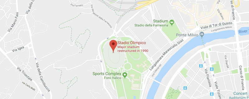 Stadio Olimpico on the map