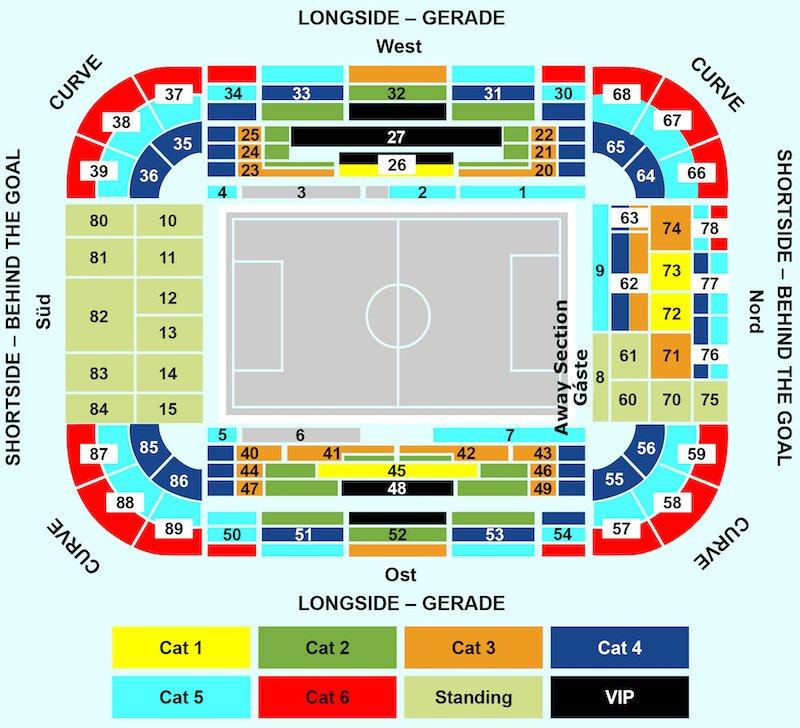 Signal Iduna Park seating plan