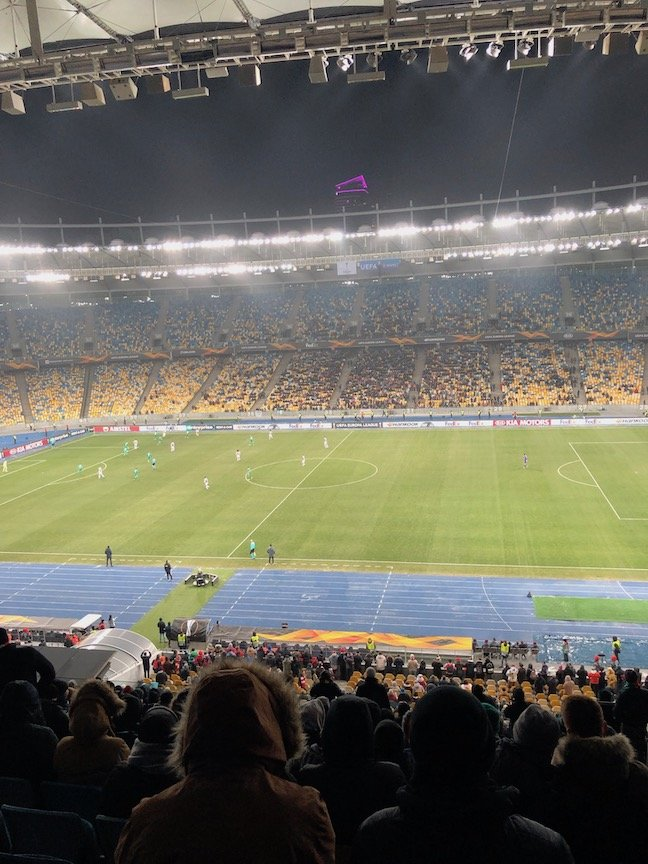 view from my seat at nsc olimpiyskiy