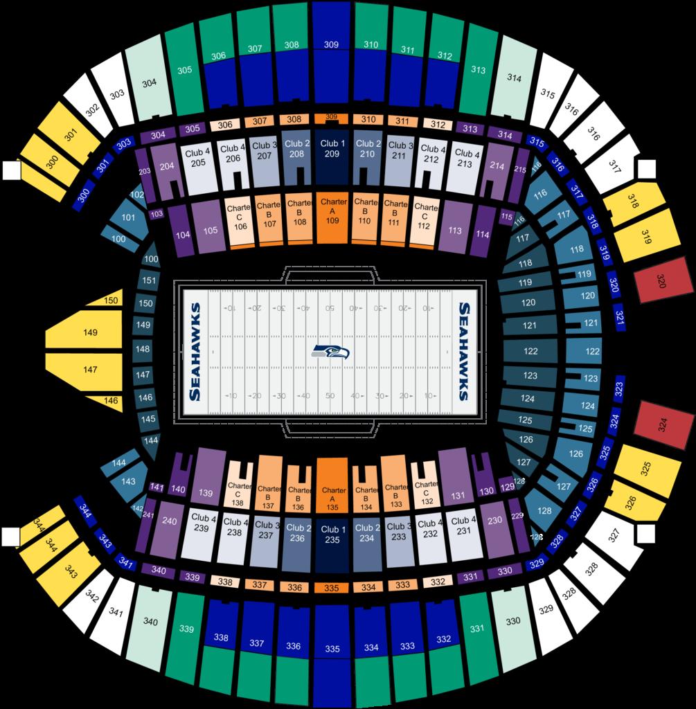 CenturyLink Field seating plan
