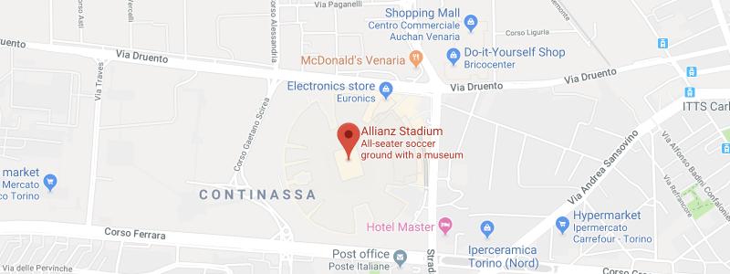 Allianz Stadium on the map