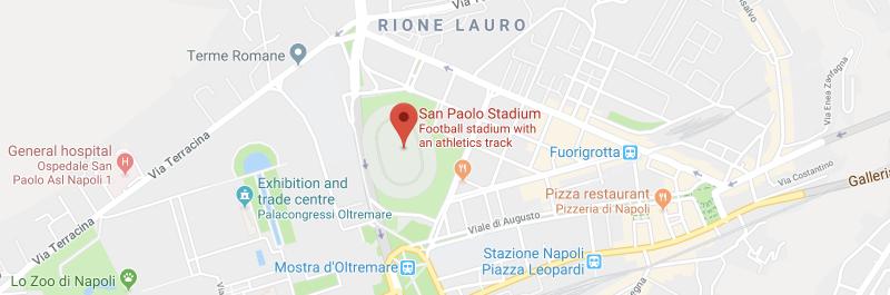 San Paolo Stadium on the map