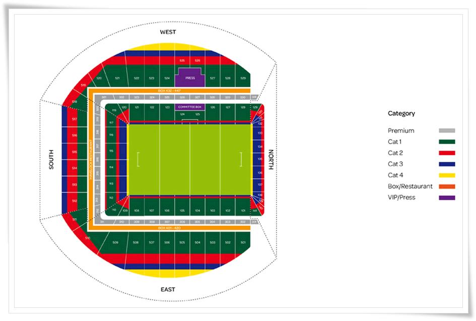 карта секторов стадиона Авива