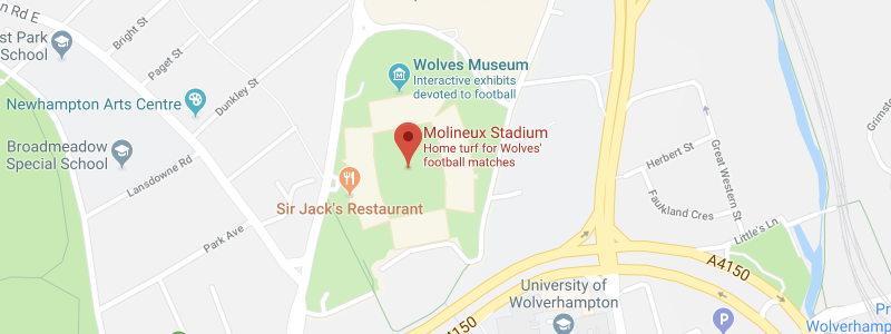 Molineux Stadium on the map