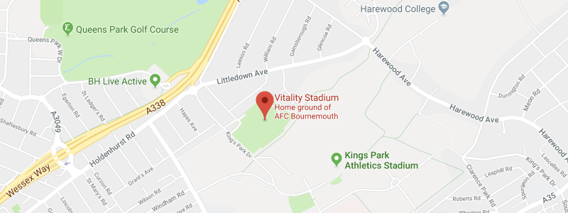 Vitality Stadium on the map