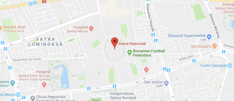 Arena Nationala on the map