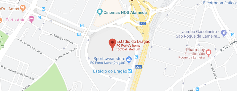Estádio do Dragão on the map