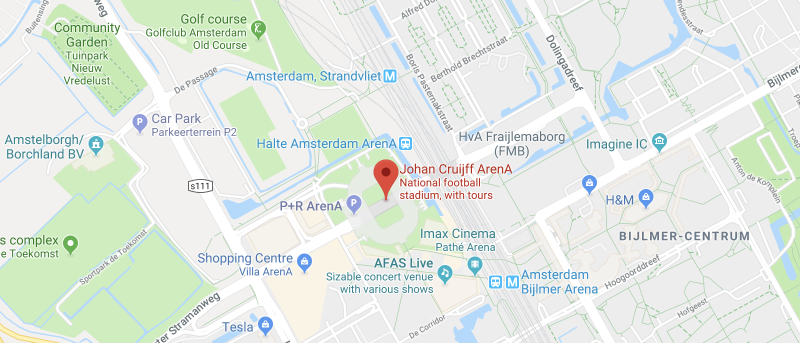Johan Cruijff ArenA on the map