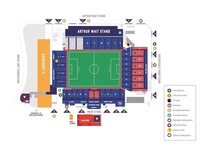 Selhurst Park seating plan