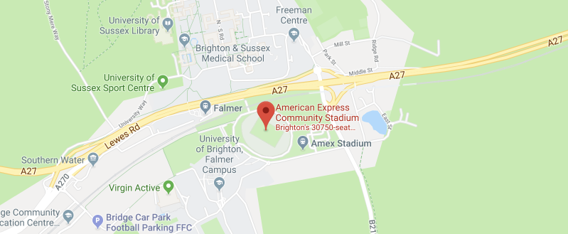 American Express Community Stadium on the map