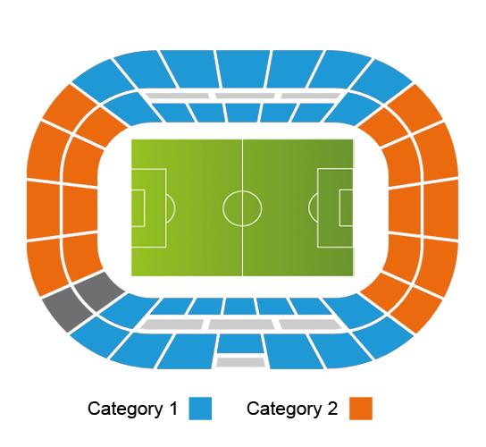 Basaksehir Fatih Terim Stadium seating plan