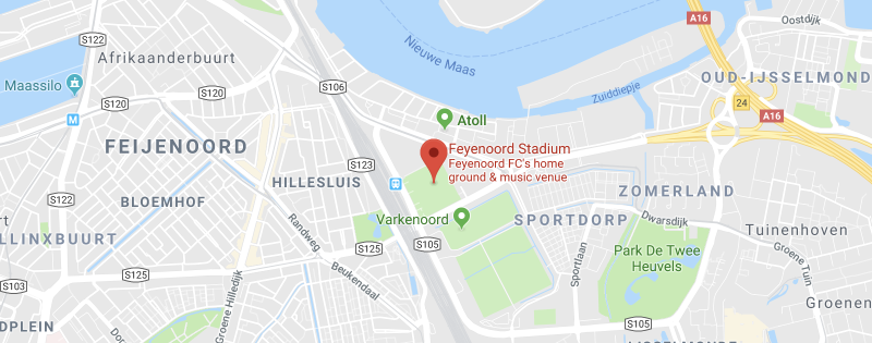 Feyenoord Stadium on the map