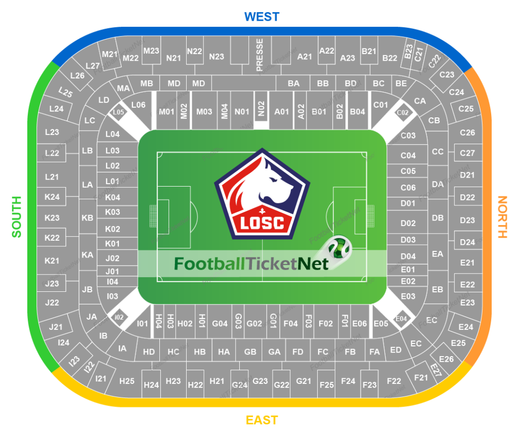 Stade Pierre-Mauroy seating plan