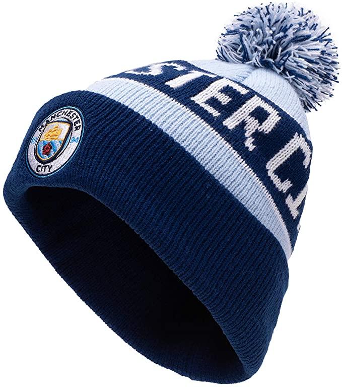 Manchester City bobble hat