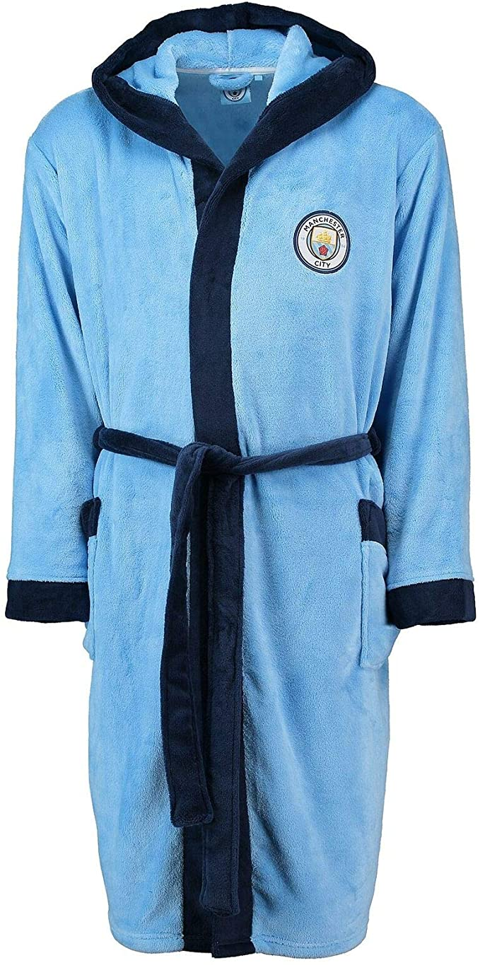Manchester City kids dressing gown